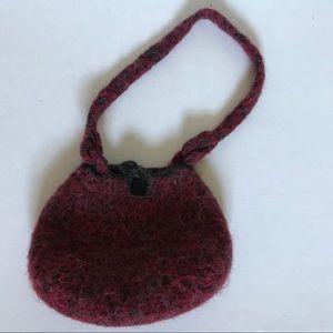 Handbags - Handmade Dyed Wool Purse
